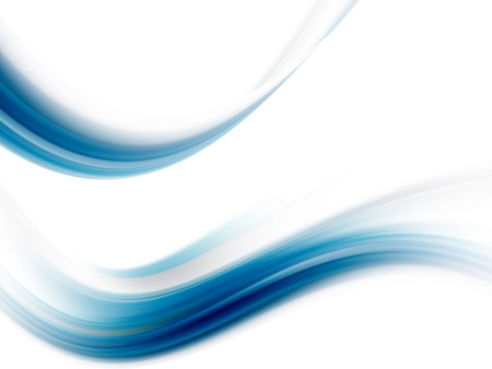modern illustrations: blue wave with soft effect on white background