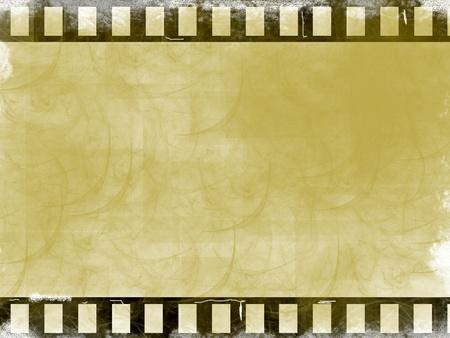 movie film reel: Fondo de cine marr�n. Ilustraci�n antigua, generados por ordenador de dise�o