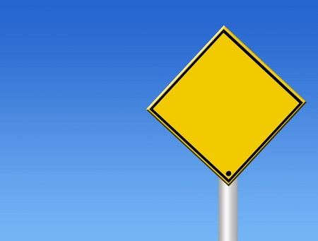 blank straffic sign on blue background. illustration illustration