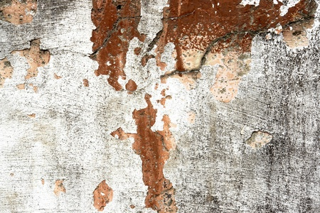 old wall with fissure, colors white and red Stock Photo - 9697328