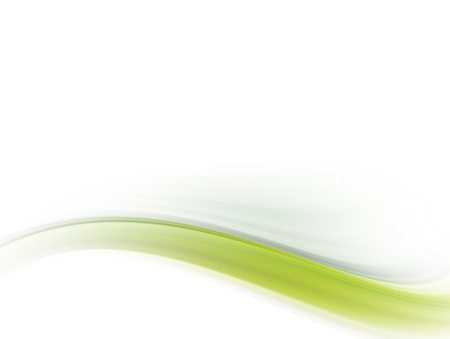futuristic nature: green dynamic wave on white background. Abstract illustrtation