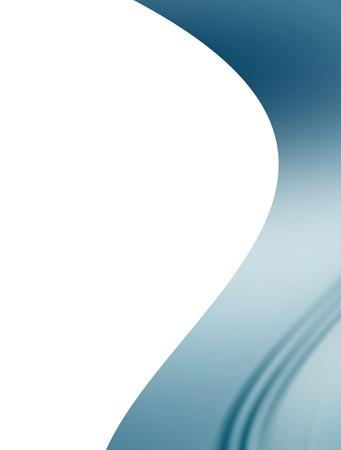 blue wave on white background. Abstract illustration illustration