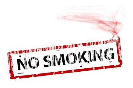 prohibido fumar: coneptual cigarrete con el texto no fumar. Ilustración abstracta