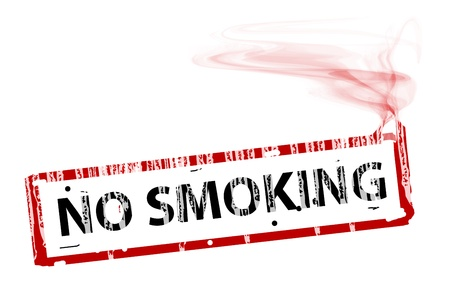 smokers: coneptual cigarrete with the text no smoking. Abstract illustration