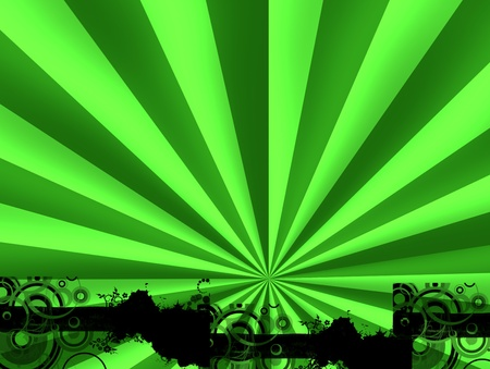 intertainment: explosive green with bright and light effects. Abstract illustration Stock Photo