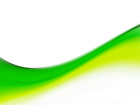 green dynamic wave on white background, illustration Stock Illustration - 9697110