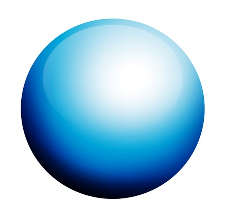 circumference: blue circumference on white background with light effects