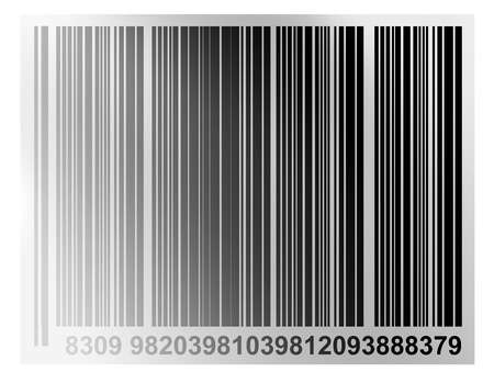 decode: bars code with numbers on white background Stock Photo