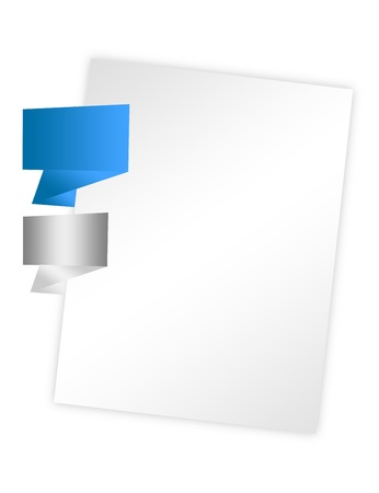 blanck: blanck paper with blue and gray notes papers isolated over white background