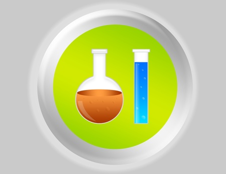 green, blue, orange and gray test button illustration illustration