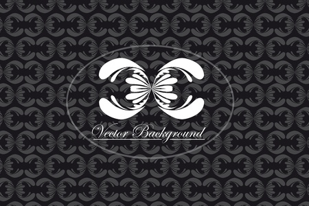 black and white ornaments background . illustration Stock Vector - 10002775