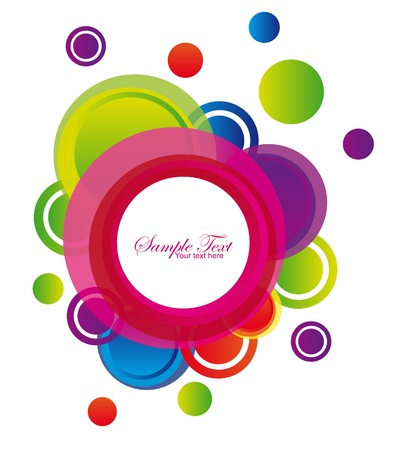 green,pink,violet,red and violet colorful circles isolated over white background Stock Vector - 10059390