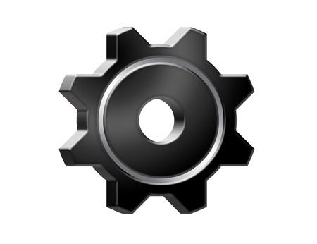 black gear isolated over white background. illustration illustration