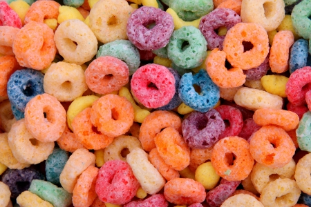 orange,blue,violet, yellow fruit cereal background. photography