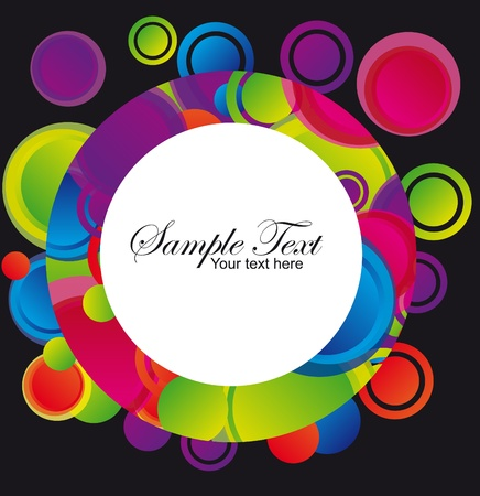 pink,violet,green,blue,red,yellow,orange circle over black background. vector Stock Vector - 10244363