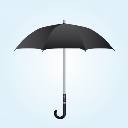 black umbrella over white and blue background. vector Stock Vector - 10263078