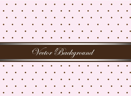 brown stripe: pink and brown cute with circles background. vector