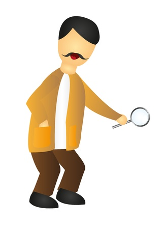 inspector cartoon isolated over white background. vector Vector