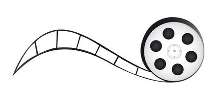 filmregisseur: film reel cartoon geà ¯ soleerde over witte achtergrond. vector