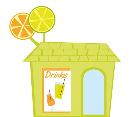 drinks restaurant isolated over white background. vector Vector