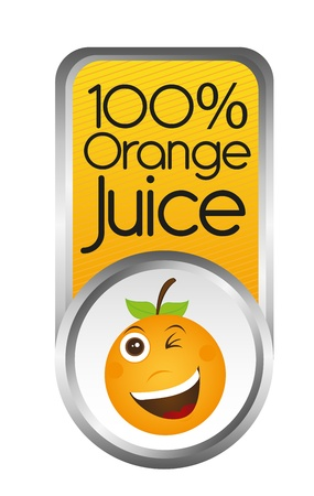 orange juice tag isolated over white background. vector Stock Vector - 10790022