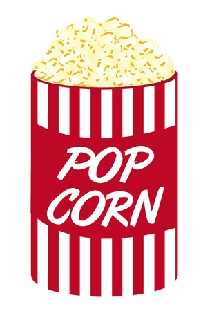 pop corn cartoon isolated over white background. vector Vector