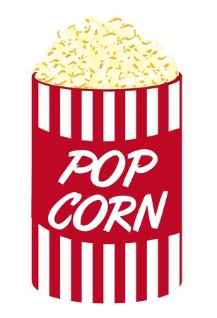 cartoon pop corn isolato su sfondo bianco. vettore