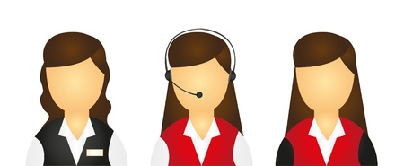 receptions: young girls receptions icons isolated over white background. vector Illustration