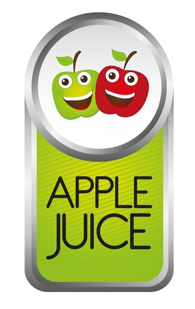 apple juice tag isolated over white background. vector Stock Vector - 10790015