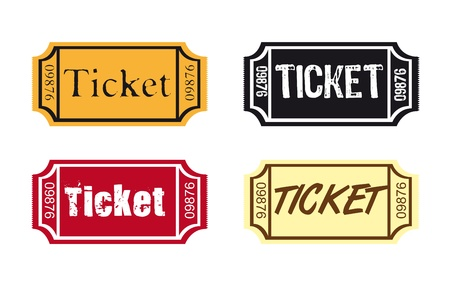 theatre audience: colorful ticket isolated over white background. vector Illustration