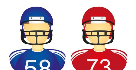 american football helmet set: people icons, football american isolated over white background. vector Illustration