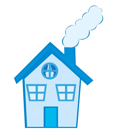 house cartoon isolated over white background. vector Vector