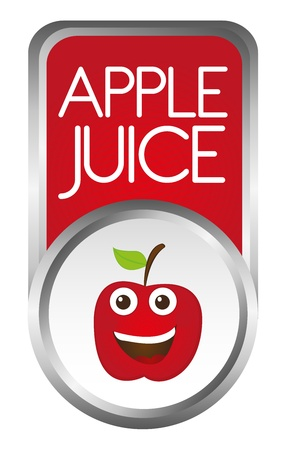 apple juice tag isolated over white background. vector Stock Vector - 10790017