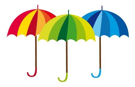sonnenschirm: Regenschirm Zeichentrickfilm �ber wei�em Hintergrund. Vektor Illustration