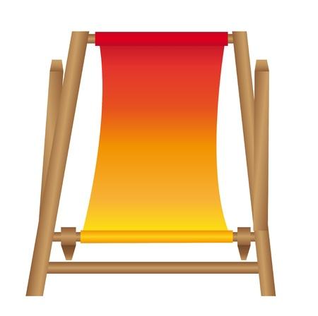 chair beach cartoon isolated over white background. vector Vector
