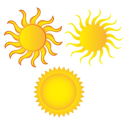 sun cartoon isolated over white background. vector Stock Vector - 10790183