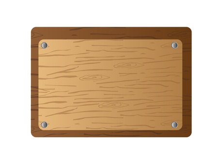 wooden plaque: brown wooden board isolated over white background. vector