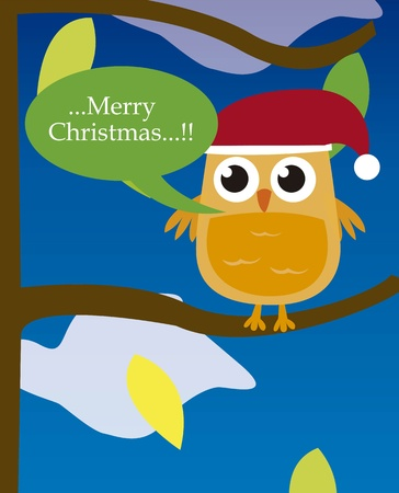 bird on tree over night background. vector Vector