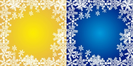 yellow and blue christmas backgrounds, merry christmas. vector Vector