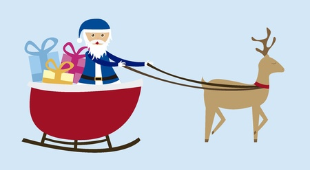 sleigh cartoon  isolated over blue background. vector  Vector