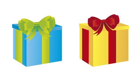 colorful gifts isolated over white background. vector Stock Vector - 11107684