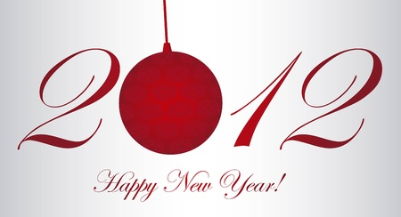 2012 with christmas ball, happy new year. vector Stock Vector - 11107767