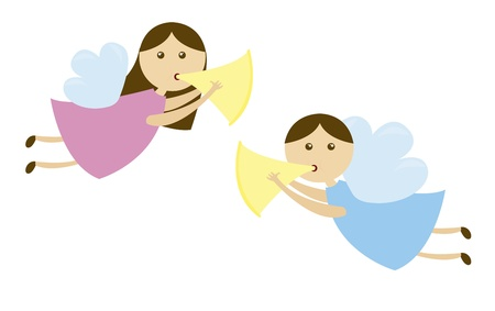angels cartoons isolated over white background. vector Stock Vector - 11107703
