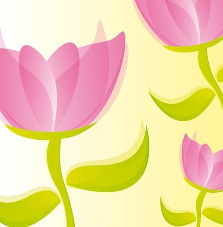 pink beautiful rose over beige background. vector illustration Illustration