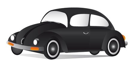 black car with shadow over white background. vector Stock Vector - 11309461