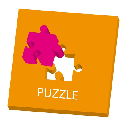 conceptual puzzle over white background. vector illustration Stock Vector - 11309525