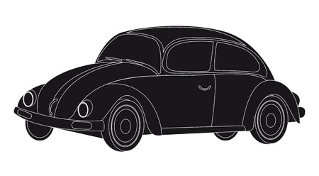 silhouette car isolated over white background. vector Stock Vector - 11309450
