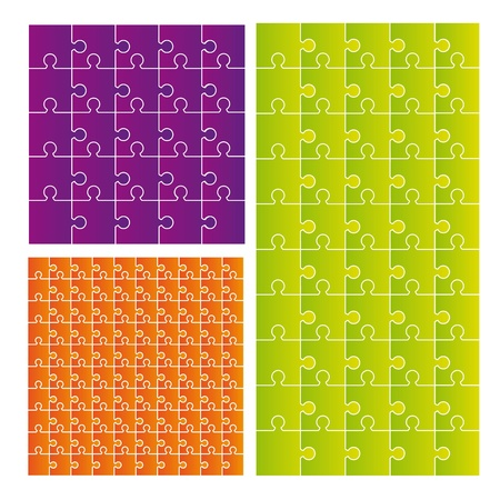 colorful puzzle over white background. vector illustration Stock Vector - 11309536