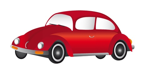red old car isolated over white background. vector illustration Stock Vector - 11309453