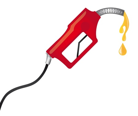 red fuel pump with yellow raindrops. vector illustration Stock Vector - 11516538